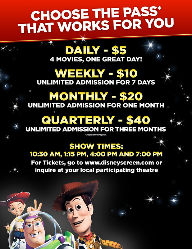 DISNEY SCREEN PRICING