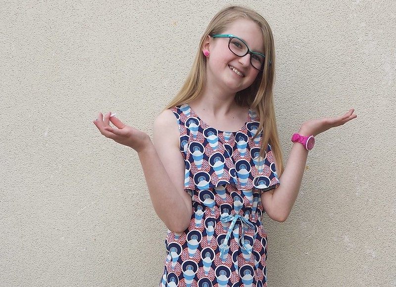 Simplicity 1625 dress in woven rayon from The Cloth Shop