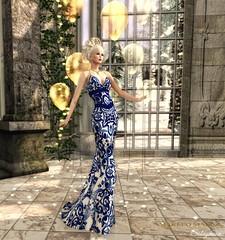 Sabrymoon wearing Amarelo Manga - Dalila Long Tail Dress