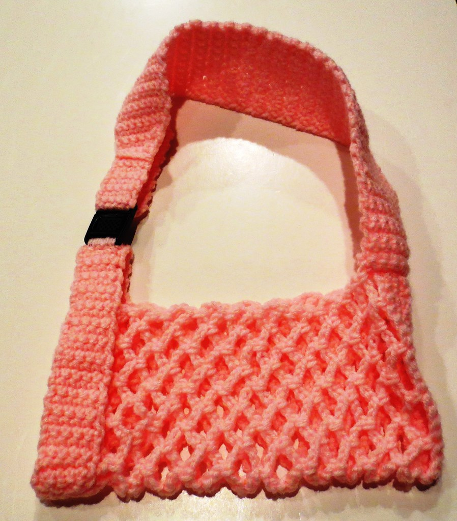 Crochet Sling Bag Pattern : Crocheted Arm Sling My Recycled Bags.com