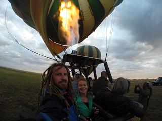 Balloon flight over the Serengeti.