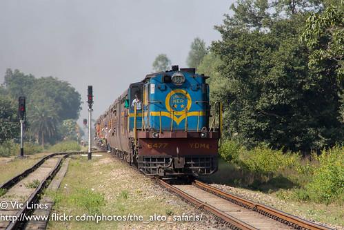 indian railways gauge dlw alco metre izn 52239 6477 ydm4 rsd30 dl535 tikunia aisbagh