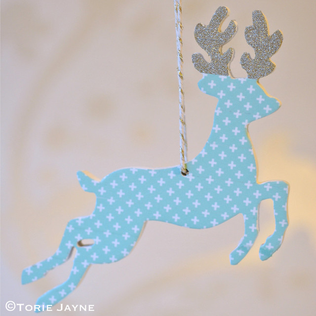 Washi tape deer ornament 7