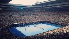 Grandslam Stadium Sport Crowd Spectator Sports Event  Fan - Enthusiast Outdoors Athlete Melbourne MelbournePhotographer Tennis 🎾 Tenniscourt Tennis Court Rafa Nadal Sarena Williams Rod Laver Arena at Rod Laver Arena