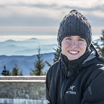 Emily at Mount Mitchell