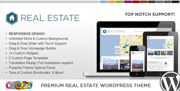 WP Pro Real Estate 3 v1.5.0 - Responsive WordPress Theme