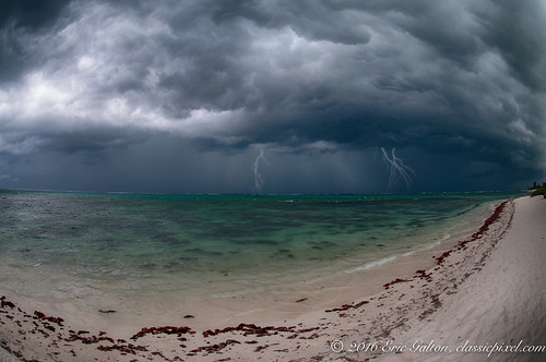 Storm by the shore, Quintana Roo, Mexico