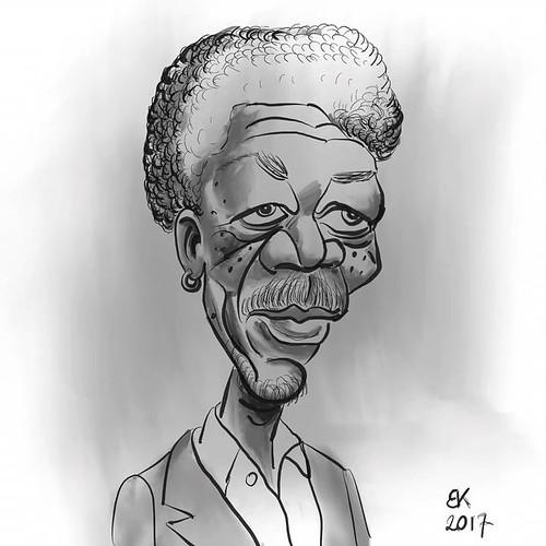 , My Daily sketch – by Brian Kristensen How to Draw A #caricature of #Morgan #Freeman #Practice #DailyPic #DailySketch #DailyDrawing #Drawing #Sketching #Progress #HowTo #HowToDraw #Video #Sketch #DIY #morganfreeman #karikatur #illustration #illustrationart, My cartoon Blog, My cartoon Blog