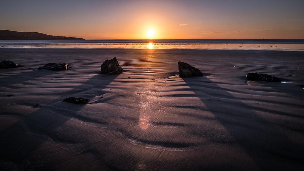 Bull Island after sunrise, Dublin, Ireland picture