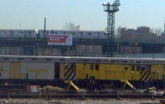 NYCT R14 rider cars (work service trailers) awaiting scrap
