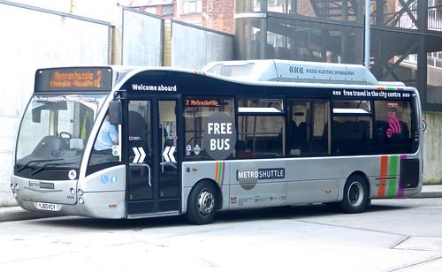 YJ60 KCV 'First Manchester' No. 49102 Optare Versa Hybrid on Dennis Basford's 'railsroadsrunways.blogspot.co.uk'