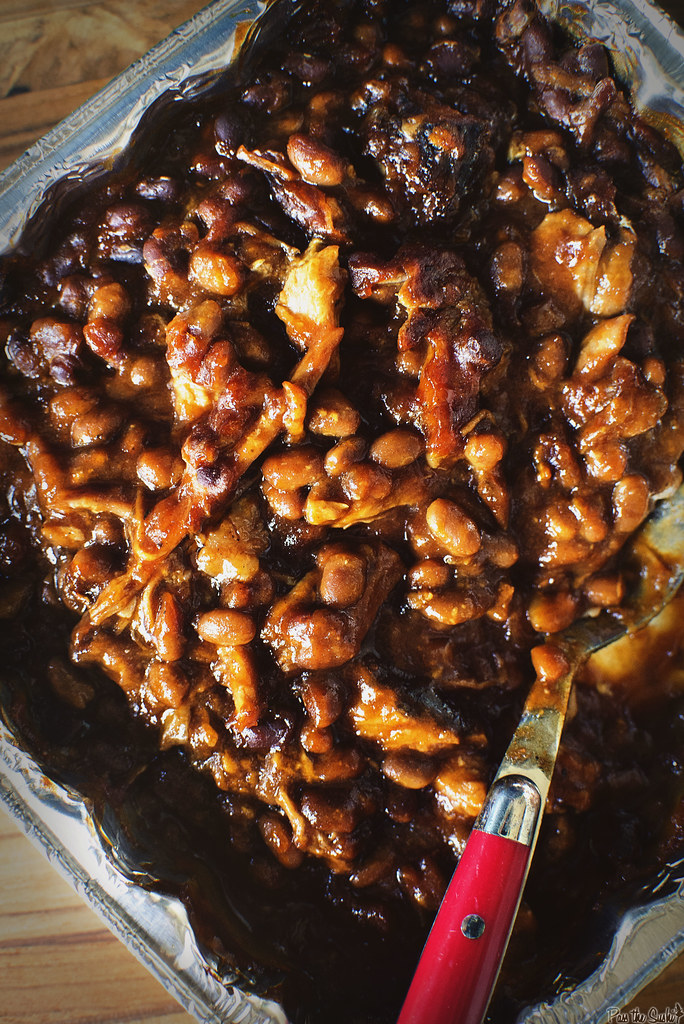 Slow Smoked Pork and Beans