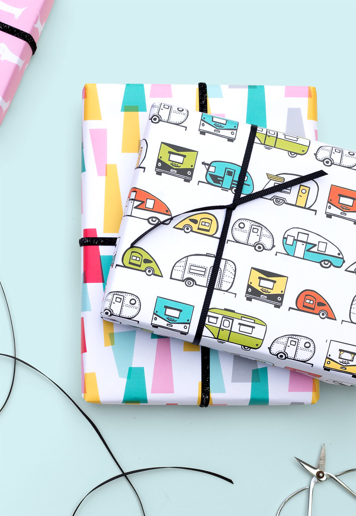 New Retro Inspired Gift Wrap Patterns by Vitamini