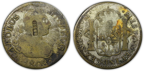 1808 counterfeit 2 realse with FALSA counterstamp