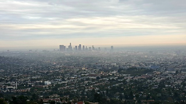 Downtown LA viewed from Griffith Observatory, July 2015
