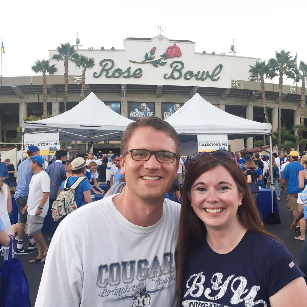Football at the Rose Bowl