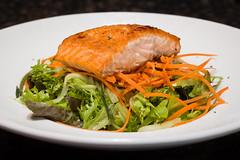 Summer Greens Salad with Pan-seared Salmon
