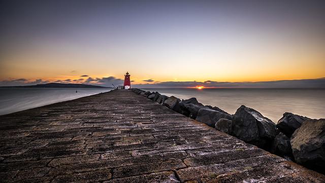 Poolbeg lighthouse - Dublin, Ireland - Seascape photography