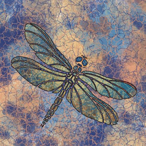 Dragonfly digital collage