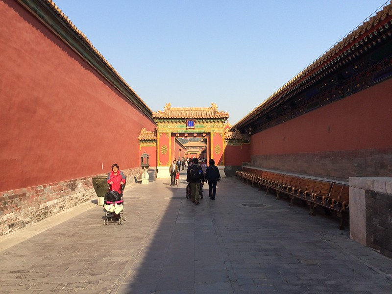 One of the alleys in the Forbidden Palace.