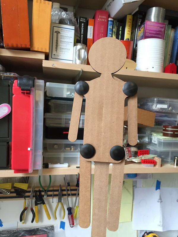 Pull string puppet prototype
