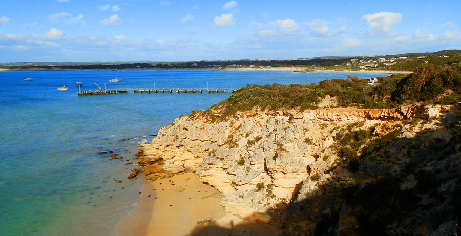 Southend Jetty, northern end of Canunda National Park, Limestone Coast
