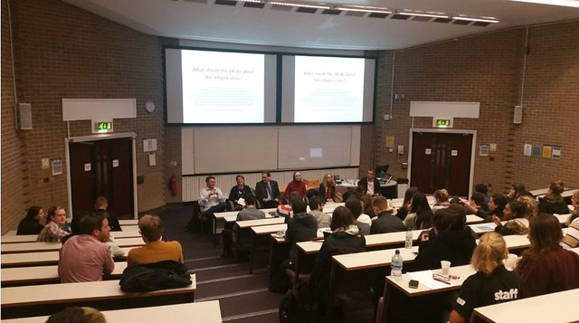 Manchester Uni School of Politics debate on refugee crisis 14/10/2015