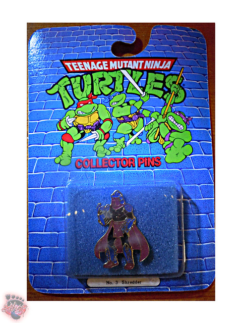 "ACE NOVELTY :: ""TEENAGE MUTANT NINJA TURTLES"" COLLECTOR PINS - No.3 'Shredder' i (( 1989 ))"