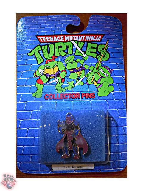 "ACE NOVELTY :: ""TEENAGE MUTANT NINJA TURTLES"" COLLECTOR PINS - No.3 'Shredder' i (( 1989 ))"