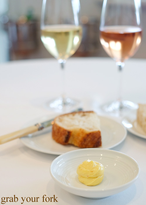 Sourdough bread with whipped bottarga butter by Pilu at Freshwater, Sydney