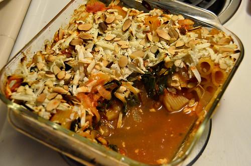 Baked Sicilian-Style Rigatoni with Lacinato Kale & Ricotta Salata