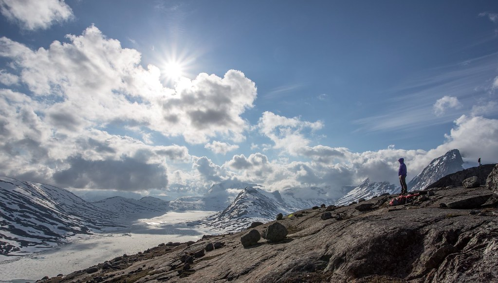 High above Lossivatnet. Narviksfjell. Lappland. Norway #6monthspregnantinpicture