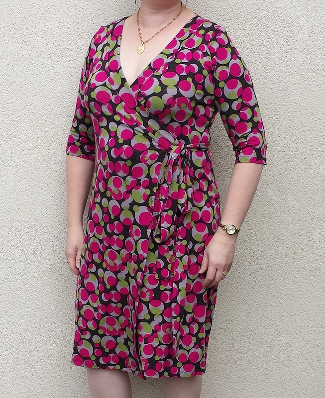 Cashmerette Appleton dress in viscose lycra from Darn Cheap Fabrics