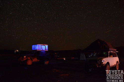 Mike and Ige camped under the Utah sky - by Michael Davidson
