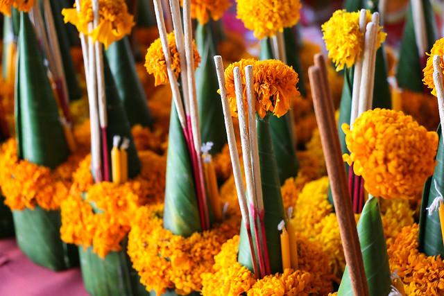 Incense sticks for offering to Buddha, Luang Prabang, laos ルアンパバーン、お供え用の線香