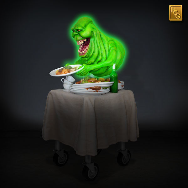 Hollywood Collectibles Group【貪吃史萊姆】Ghostbusters Slimer 1/4 比例雕像作品 HCG 限定版