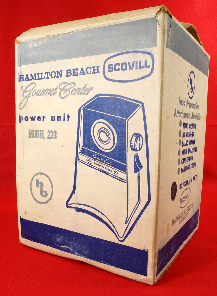 RD9226 Vintage Hamilton Beach Gourmet Center Model 223 with Instruction Booklet in Box DSC08509
