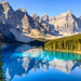 A Calm Morning at Moraine Lake by dcis_steve