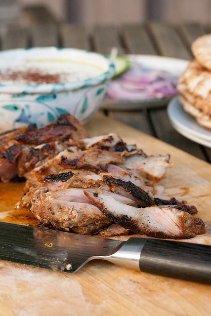 Moroccan-Spiced Grilled Lamb Leg