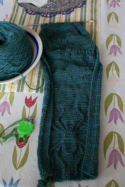 """""""October is for Spinners"""" Scarf WIP"""