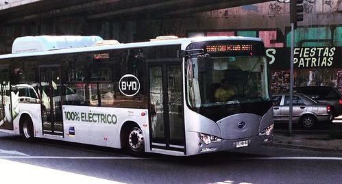 BYD Bus Eléctrico Chilectra - Santiago, Chile