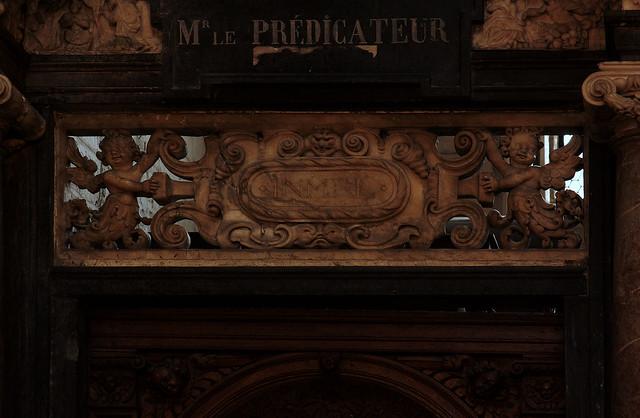 Saint Omer, Nord-Pas-de-Calais, Cathédrale Notre-Dame, chapel of saint Erkembode, detail