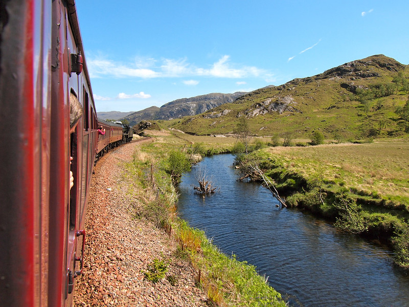 Jacobite Steam Train in Scotland