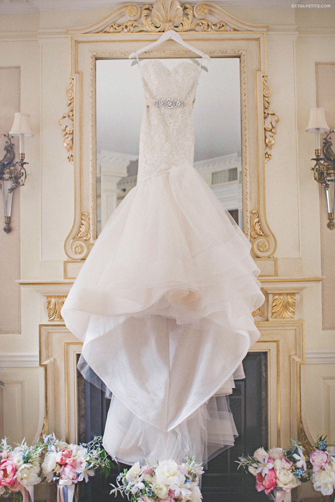 boston library lazaro lace wedding gown
