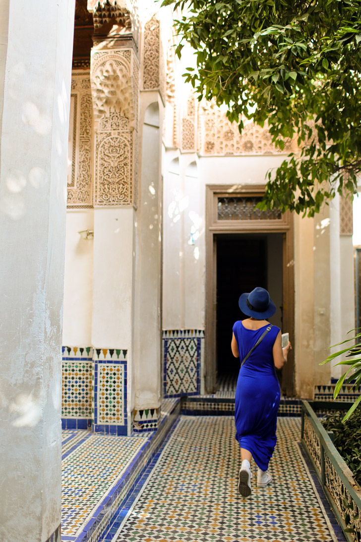 The Remarkable Architecture of the Bahia Palace Marrakech Morocco.