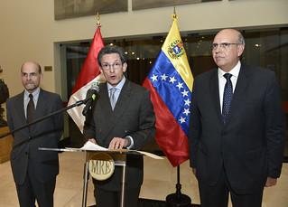 Ceremonia de bienvenida a delegación empresarial venezolana