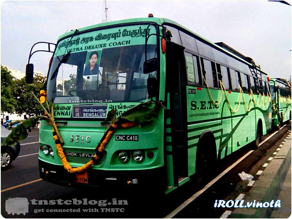 TN-01AN-1134 of Chennai Central Depot Route Chennai Bengaluru