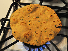 Besan thepla (griddle-baked chickpea and whole whe…