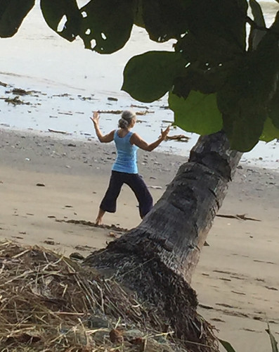 Practice Yoga Anywhere You Go - at the beach