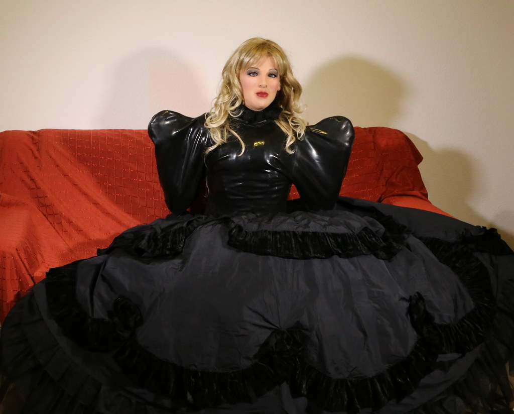 Ball gown in latex straitjacket - a photo on Flickriver